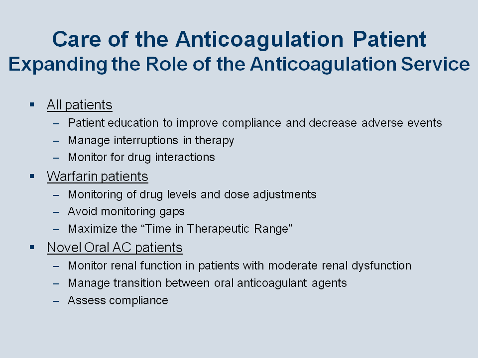 Recent Advances in Oral Anticoagulation Therapy for Patients